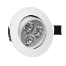 3W Angle Adjustment Recessed Spotlight LED Ceiling Downlight
